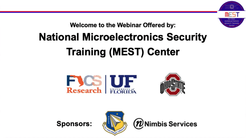 https://tortugalogic.com/national-microelectronics-security-training-mest-center-webinar/